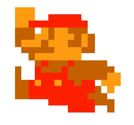 Mario pixelated
